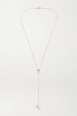 Mizuki 14-karat Gold Multi-stone Necklace - one size