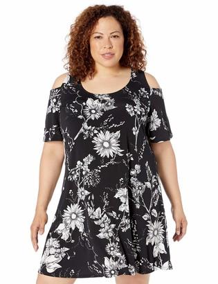 Karen Kane Women's Plus Size Cold Shoulder Dress