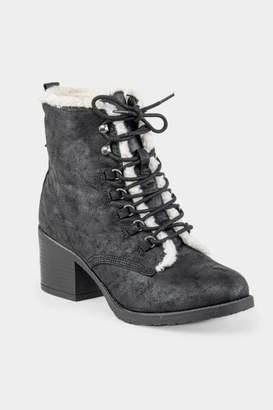 Mia Lars Fur Lined Hiker Boot - Black
