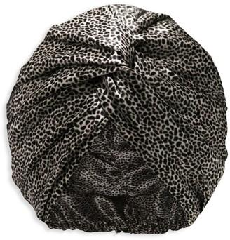 Slip Leopard Silk Turban
