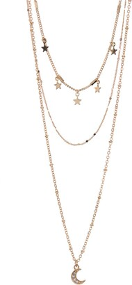 Area Stars Stars & Moon Layered Necklace Set