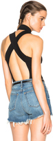 Fleur Du Mal Turtleneck Crossback Bodysuit