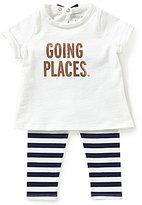 Kate Spade Baby Girls 6-24 Months Going Places Tee & Leggings Set