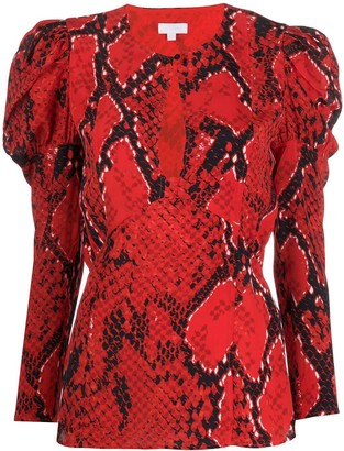 Lala Berlin Bellina Fire Python-print blouse