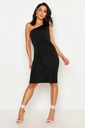boohoo One Shoulder Midi Dress