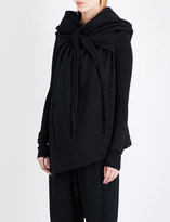 Drkshdw Oversized draped cotton cape