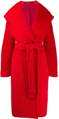 Tagliatore belted double-breasted coat