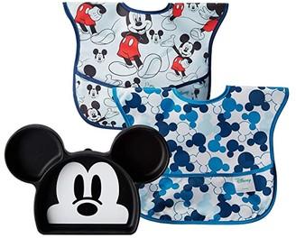 Bumkins Disney Mickey Silicone Grip Dish w/ Bib 2-Pack (Mickey) Accessories Travel