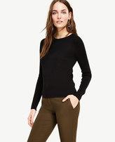 Ann Taylor Stitched Silk Cotton Sweater