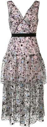 Self-Portrait Sequin-Embellished Tulle Dress