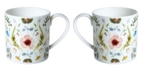 Twig New York Scandinavian Floral Mugs - Set of 2