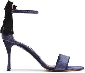 Tabitha Simmons Bow-embellished Velvet Sandals