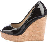 Jimmy Choo Papina Patent Leather Wedges