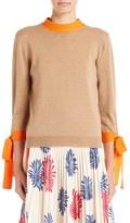 MSGM Women's Tie Detail Knit Wool Top