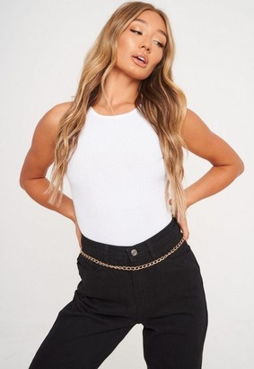 Missguided Look Oval Link Chain Belt