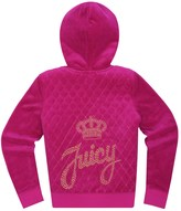 Juicy Couture Girls Logo Velour Juicy Stud Script Robertson Jacket