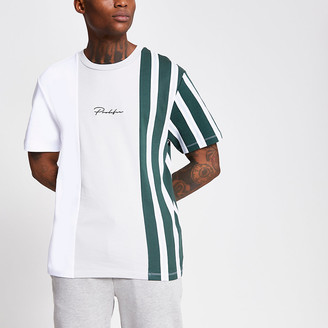 River Island Prolific white stripe block T-shirt