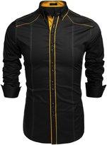 Coofandy Men's Fashion Slim Fit Casual Button Down Dress Shirt