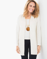 Chico's Faux-Leather Strip Jacket