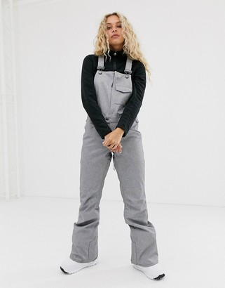 Volcom Snow Swift bib overall pant in grey