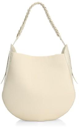 Nancy Gonzalez Crocodile-Trimmed Leather Hobo Bag