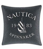 Nautica Heritage Classic Collection Vintage Spinnaker Denim Square PIllow