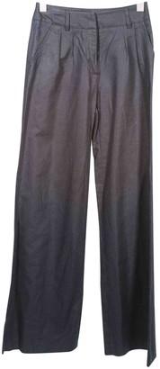 Tara Jarmon Navy Cotton Trousers for Women