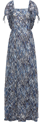 Missoni Gathered Crocheted Cotton Maxi Dress