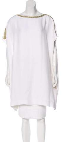 Azzaro Short Sleeve Embroidered Blouse w/ Tags