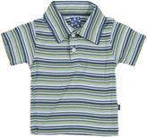 Kickee Pants Print Polo (Baby)-Sailaway Stripe - Boy-0-3 Months