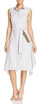 Lafayette 148 New York Nanette Stripe Shirt Dress - 100% Exclusive