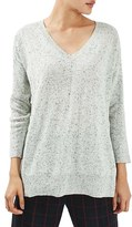 Topshop Women's V-Neck Longline Sweater