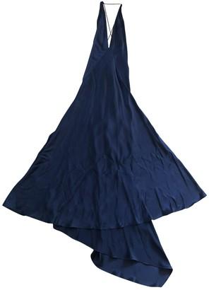 Michael Lo Sordo Blue Silk Dresses