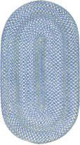 Capel Area Rug, Sailor Boy Oval Braid 0470-400 Deep Blue Sea 4' x 6'