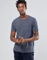 Celio Crew Neck Pocket T-shirt In Mixed Yarn Stripe
