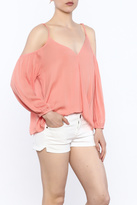 Bishop + Young Crossover Cold Shoulder top