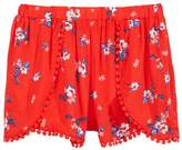 Epic Threads Floral-Print Pom Pom-Trim Shorts, Big Girls, Created for Macy's