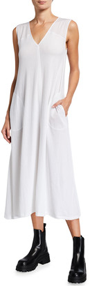 ATM Anthony Thomas Melillo Sleeveless V-Neck Maxi Dress