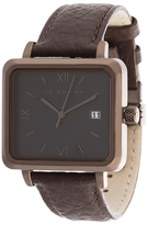 Ike Behar The Square Stainless Steel Watch, 37mm