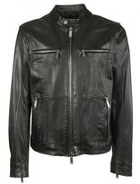 DSQUARED2 Zipped Panel Leather Jacket