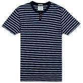 Lucky Brand Men's Slub Notch Tee In Indigo Stripe