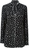 Dolce & Gabbana polka dot print pyjama shirt