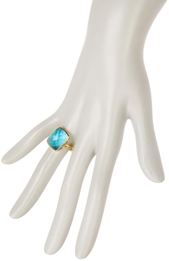 Melinda Maria Mia Tourmaline Scallop Band Ring - Size 9