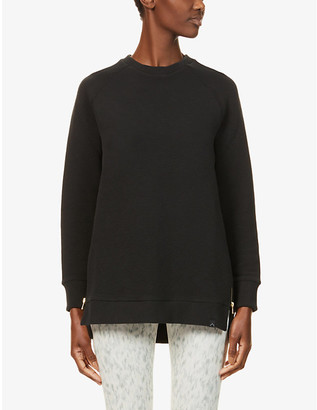 Varley Manning zipped cotton-blend sweatshirt