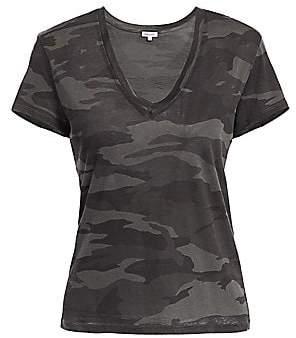 Splendid Women's Kate V-Neck Camo T-Shirt