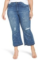 Melissa McCarthy Plus Size Women's Stretch Ripped Crop Jeans