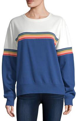 Cut And Paste Juniors-Womens Crew Neck Long Sleeve T-Shirt