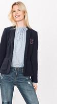 Esprit Knit-look blazer w elbow patches
