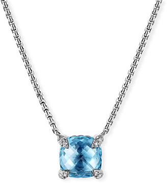 David Yurman Chatelaine Cushion Pendant Necklace with Diamonds