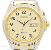 Seiko Kinetic 5M43-0E20 Stainless Steel / Gold Plated 35.5mm Mens Watch